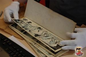 Als deze voorhanden zijn, worden originele tekeningen gereproduceerd. Geluks-vogels zijn wij, die deze historische platen mogen hanteren!