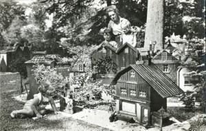 Rommeldam kaart Havenwijk met pakhuizen en orgel 1955