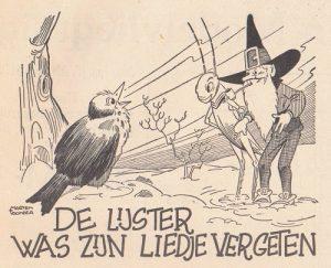 Tekening Marten Toonder uit Doe Mee