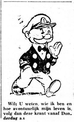 Aankondiging Kappie 28 maart 1950