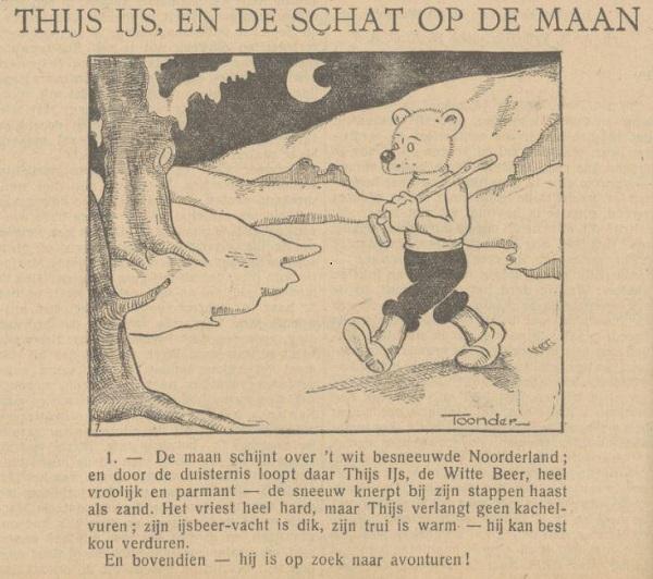 Thijs IJs, en de schat op de maan in de Provinciale Geldersche en Nijmeegsche Courant 7 sept 1934