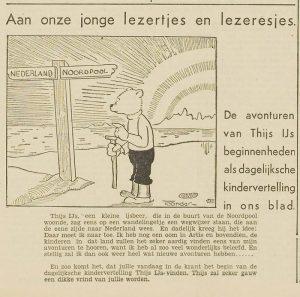Haarlem's Dagblad introductie Thijs IJs 5 nov 1934