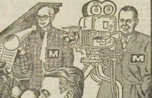 Leidsch Dagblad tekening Eppo Doeve met Marten Toonder en Joop Geesink 5 maart 1960