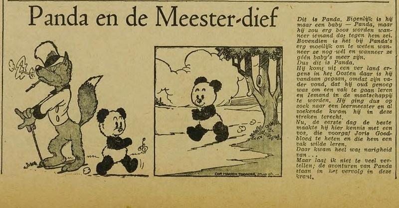 Utrechtsch Nieuwsblad introductie Panda 21 dec 1946