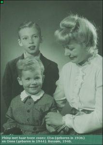 Phiny met Eiso en Onno in 1946