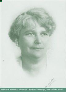 Trijntje Huizinga rond 1920